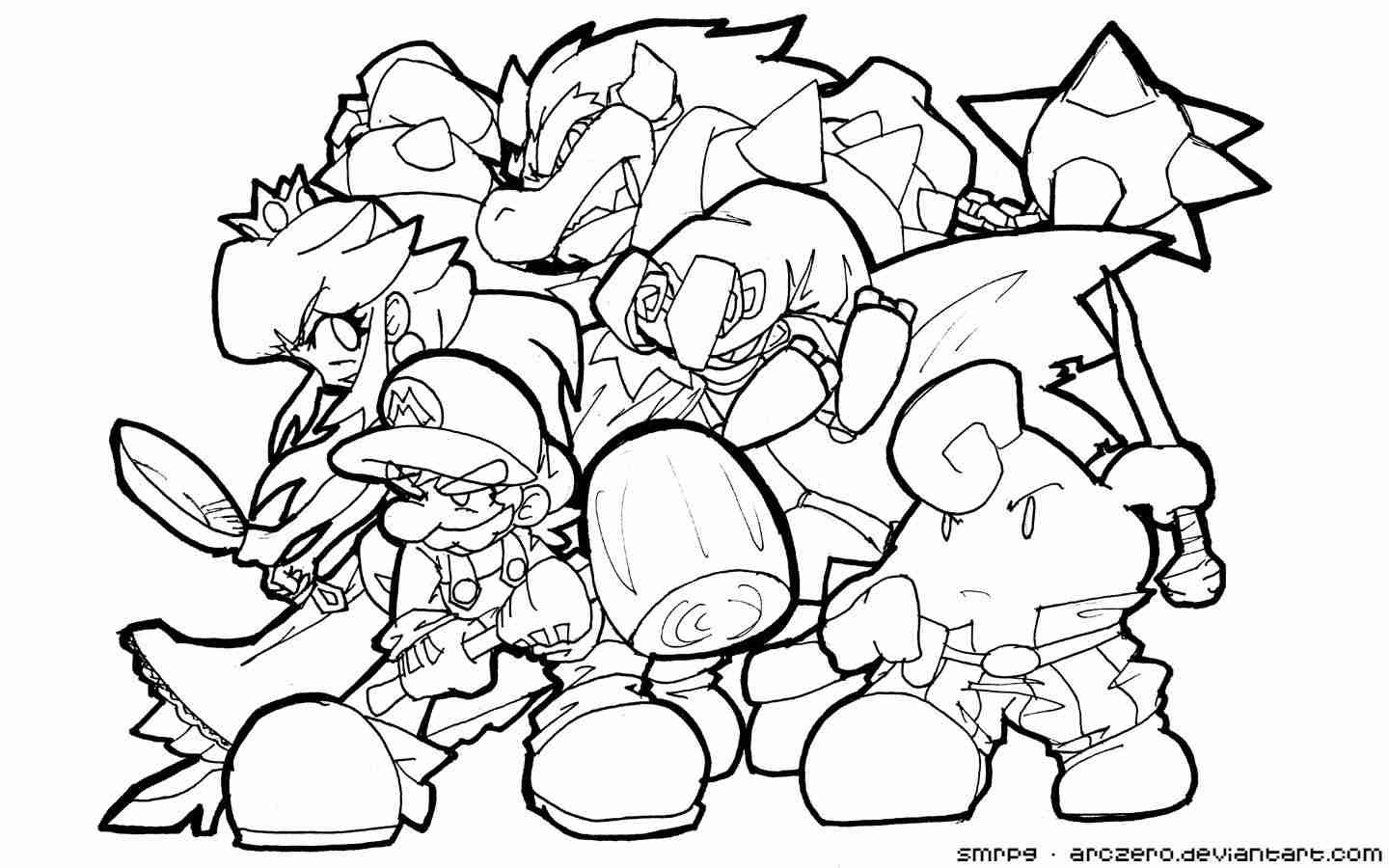 Smash Brothers Coloring Pages at GetDrawings | Free download