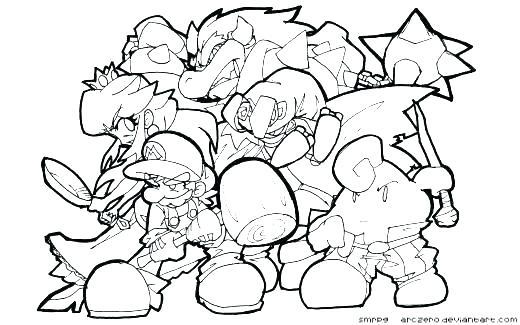 520x325 Super Smash Bros Coloring Pages Super Smash Bros Brawl Coloring
