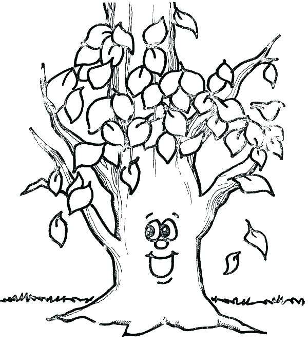 600x674 Fall Tree Coloring Page Fall Coloring Page Fall Tree Coloring Page