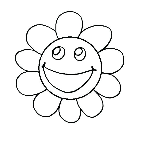 600x600 Face Coloring Pages Happy Face For Coloring Smiley Face Coloring