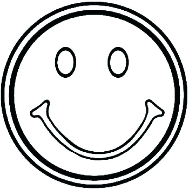 618x618 Sad Face Coloring Page Smiley Happy With Inspirations