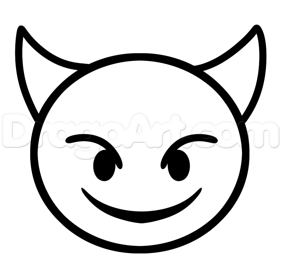 921x894 Emoji Faces Devil Coloring Pages Arty Stuff Emoji