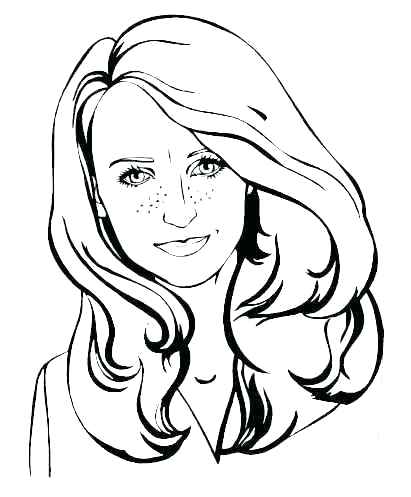 411x497 Girl Face Coloring Pages Coloring Pages Of Faces Girl Face Page