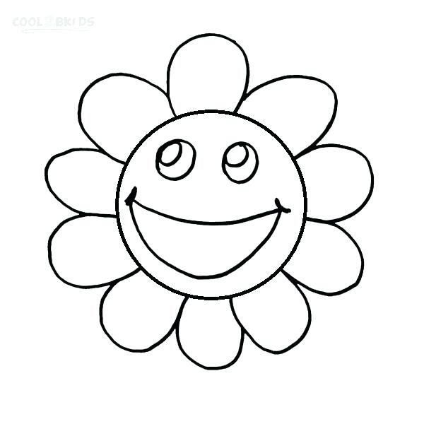 600x600 Happy Face To Color Printable Smiley Face Coloring Pages For Kids