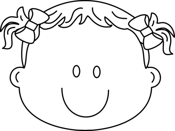 600x450 Happy Girl Face Coloring Pages
