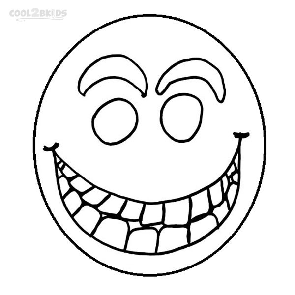 600x600 Printable Smiley Face Coloring Pages For Kids