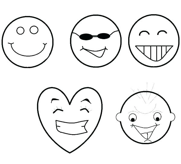 600x545 Smiley Face Coloring Page Smiley Face Coloring Page Printable