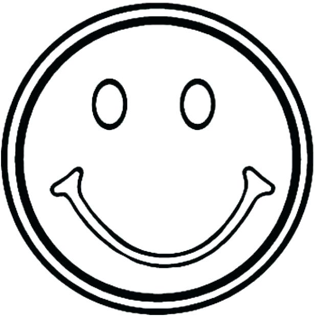 618x618 Coloring Pages Of Smiley Faces Smiley Face Coloring Page Smiley