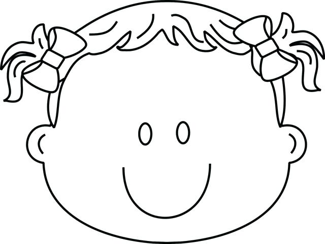 640x480 Face Coloring Page Girl Face Coloring Page Pages Girl Face