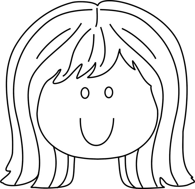 Smiling Face Coloring Page