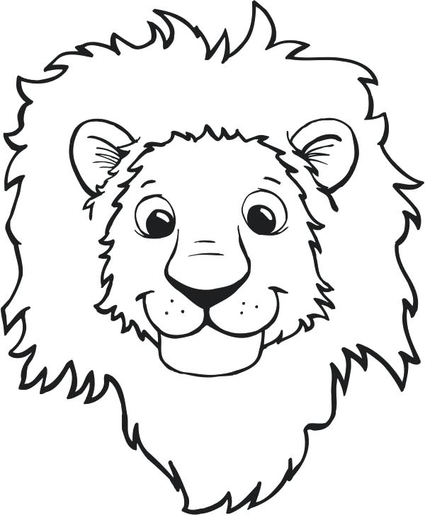600x728 Happy Face To Color Lion Smiling Face Coloring Page Smiley Face