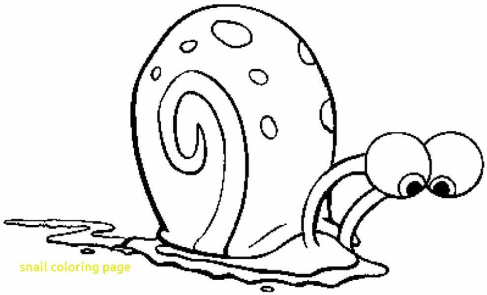 990x600 Snail Coloring Page With Happy Snail Coloring Page Best Coloring
