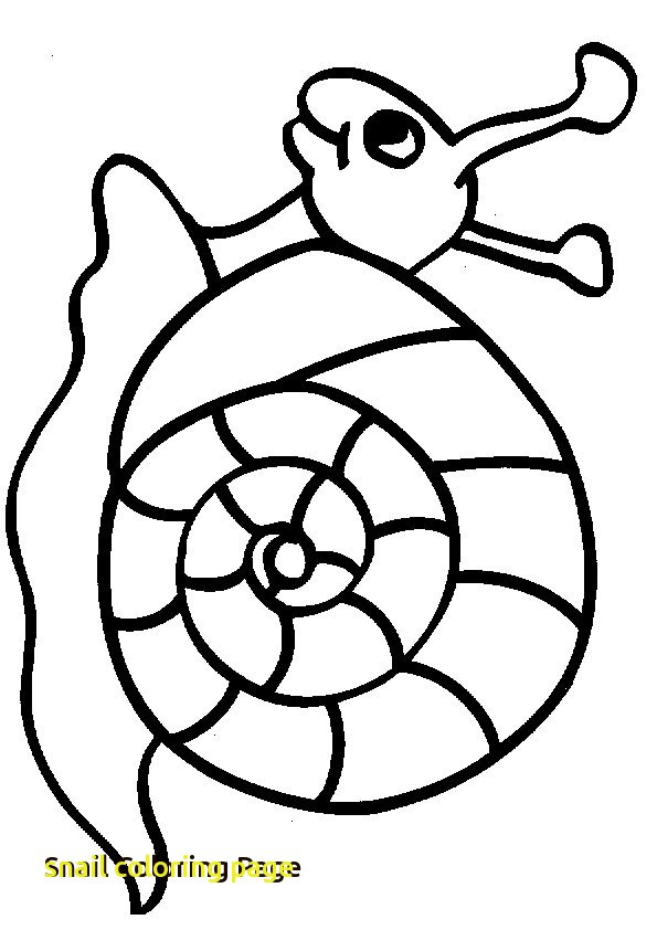595x842 Snail Coloring Page With Snail Coloring Pages