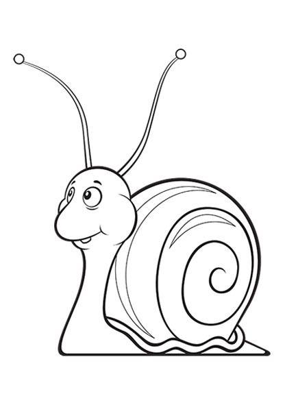416x594 Snail Coloring Page Para Colorear Caracol Coloring