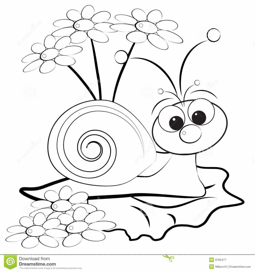 1024x1094 Snails Coloring Pages Kids Within Snail Page