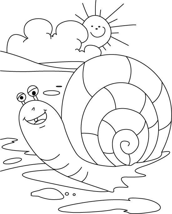 550x684 Snail Coloring Page Thema Slakken Kleuters