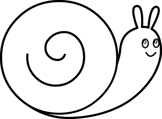 550x405 Cute Snail Coloring Page