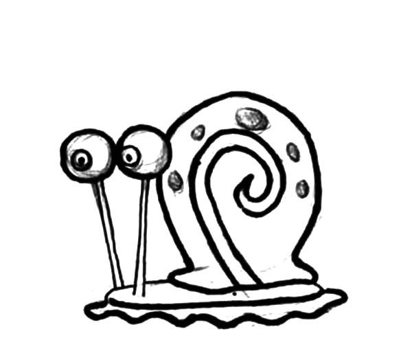 600x527 Sketch Gary The Snail Coloring Pages Color Luna
