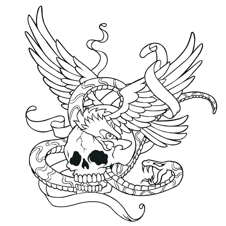 768x768 Snake Coloring Pages