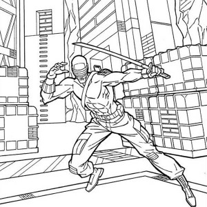 300x300 G I Joe Sketch Of Snake Eyes Coloring Pages Batch Coloring