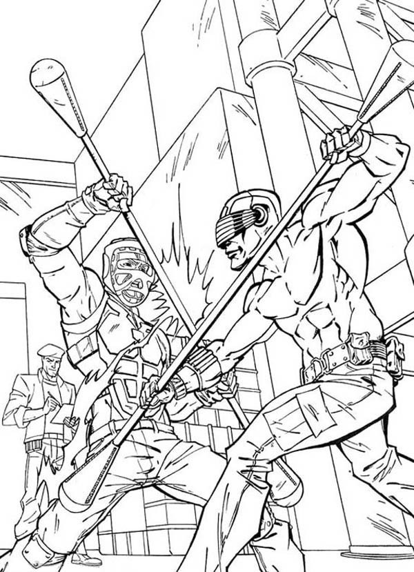 600x829 G I Joe Snake Eyes Combat Practice Coloring Pages Batch Coloring