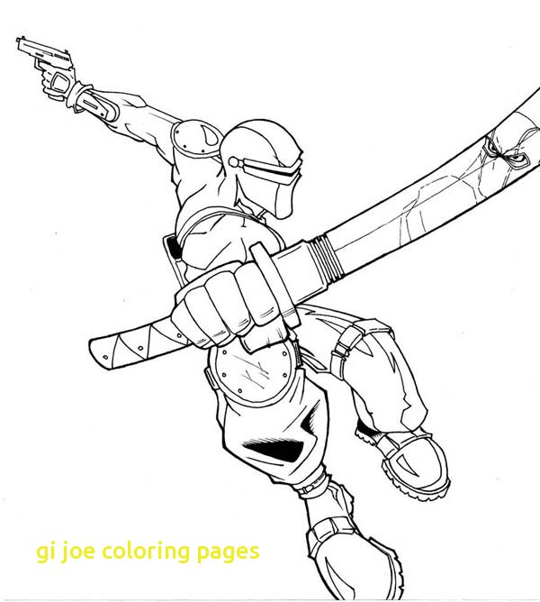 600x668 Gi Joe Coloring Pages With G I Joe Snake Eyes In Action Coloring