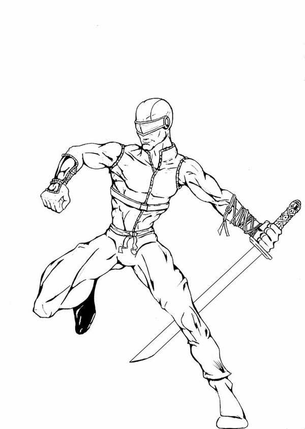 600x844 Awesome G I Joe Member Snake Eyes Coloring Pages Batch Coloring