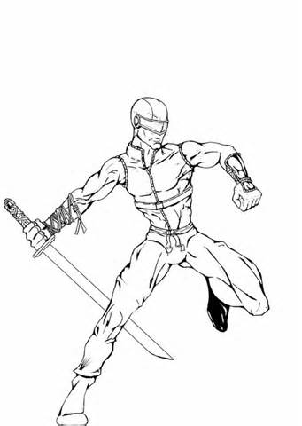 341x480 Snake Eyes Coloring Pages