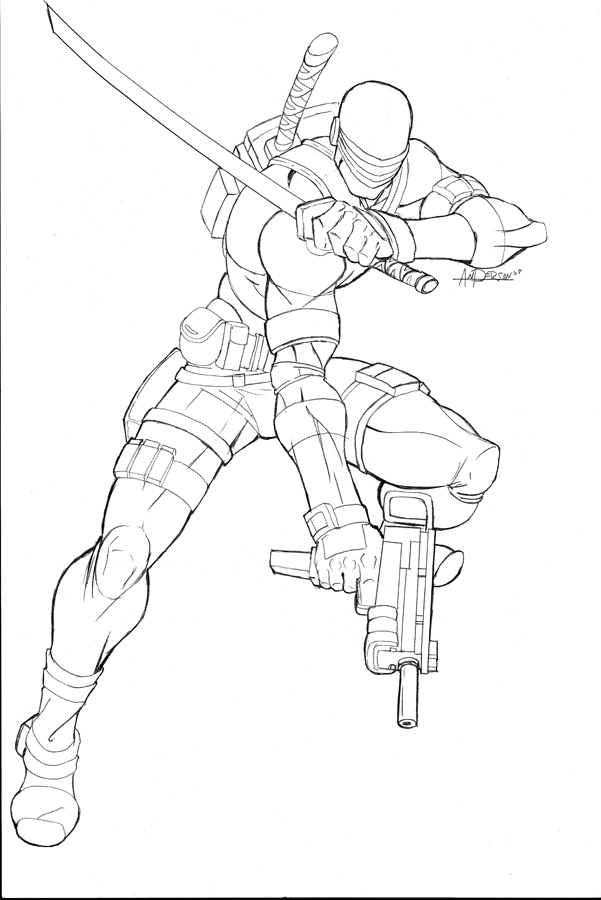 601x900 Snake Eyes Coloring Pages