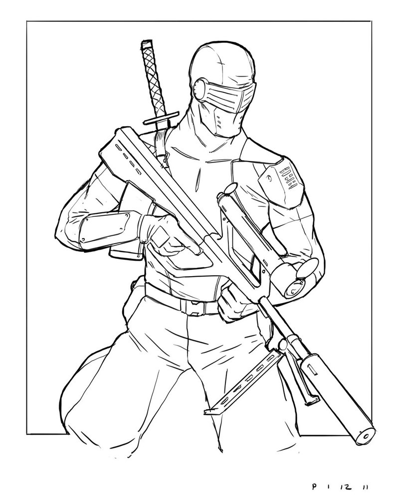 804x993 Snake Eyes Coloring Pages Download Coloring For Kids