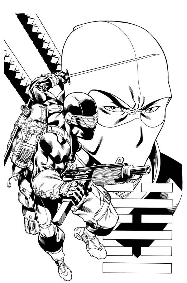 600x908 G I Joe Character Snake Eyes Coloring Pages Batch Coloring