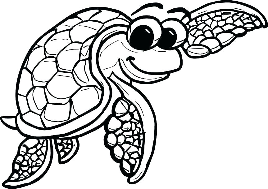 863x611 Turtle Coloring Pages Turtle Coloring Pages Free Turtle Coloring