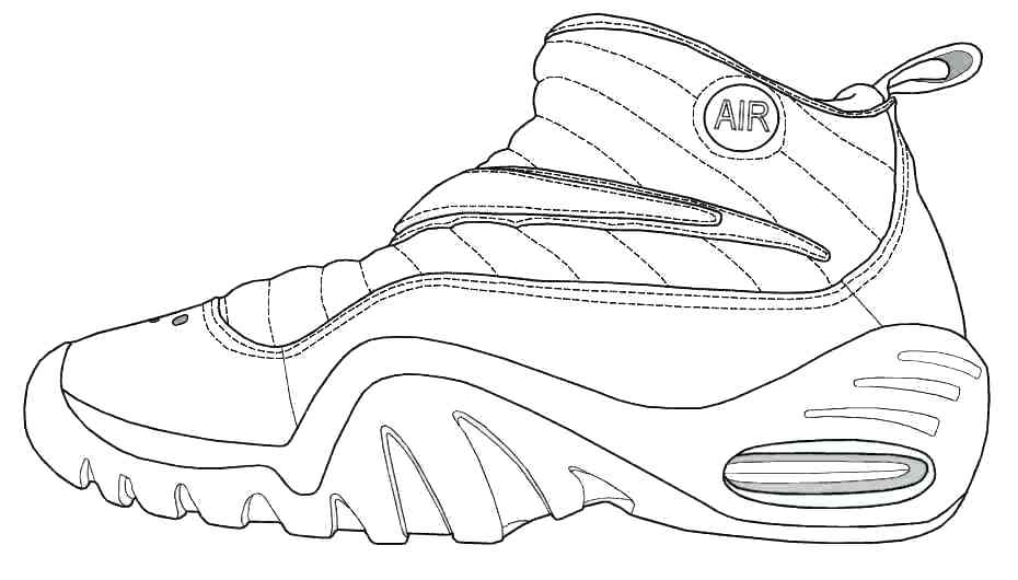 image about Sneaker Coloring Page Printable referred to as Sneaker Coloring Website page at  Absolutely free for specific