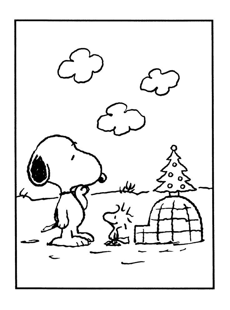 736x992 Snoopy And Woodstock Adult And Children's Coloring Pages S