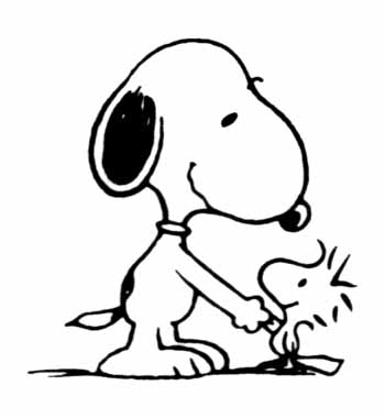 350x380 Head Clipart Snoopy Cool Snoopy And Woodstock Coloring Pages