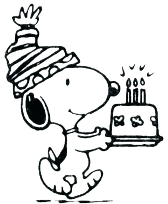 576x697 Snoopy Coloring Page Happy Birthday Coloring Pages For Friends