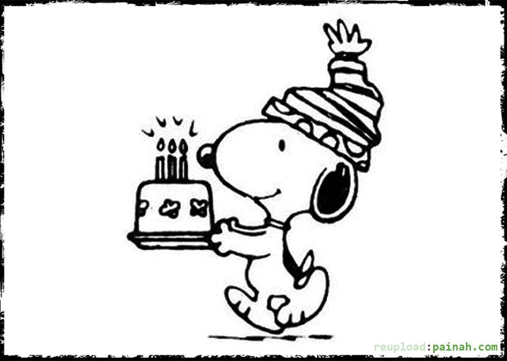 1024x728 Snoopy Coloring Pages Happy Birthday Happy Birthday Coloring