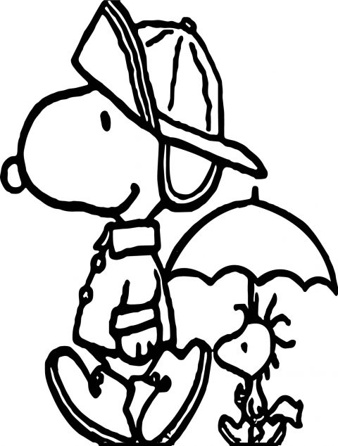 480x634 Snoopy Coloring Pages Photo Ideas Woodstock Happy
