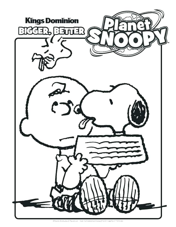 728x942 Peanuts Birthday Coloring Pages