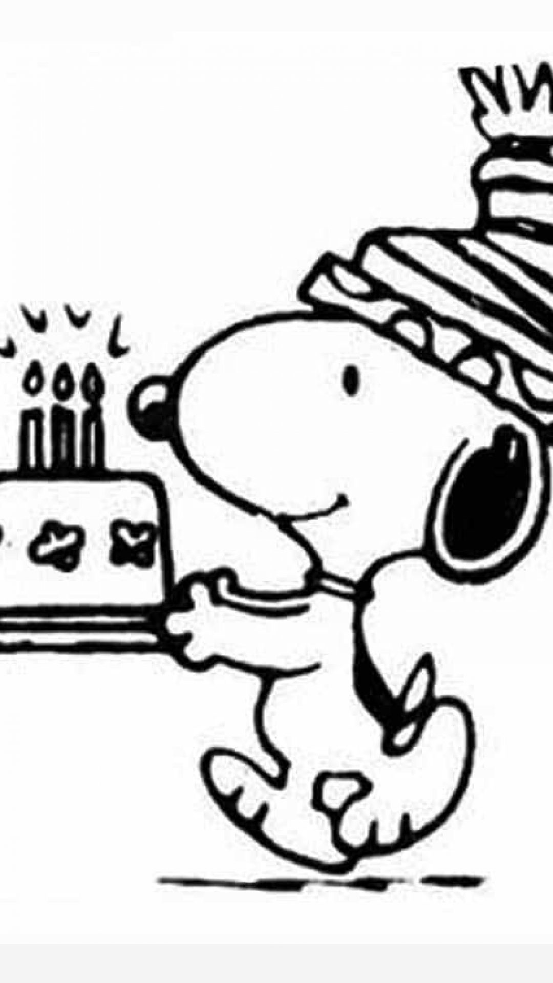 1080x1920 Snoopy Birthday Coloring Pages Timykids