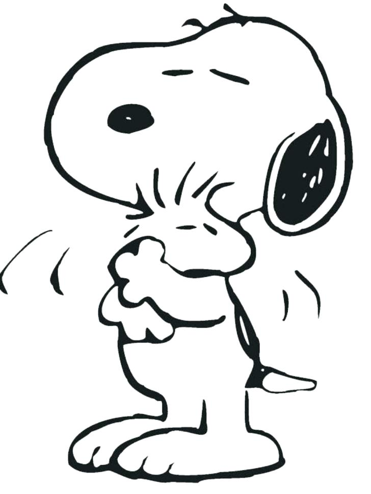 728x968 Snoopy Coloring Page