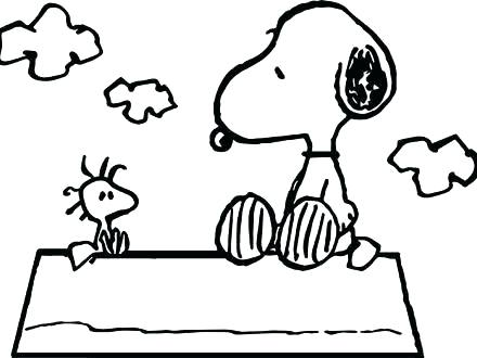 440x330 Impressive Charlie Brown And Snoopy Coloring Pages Free Printable