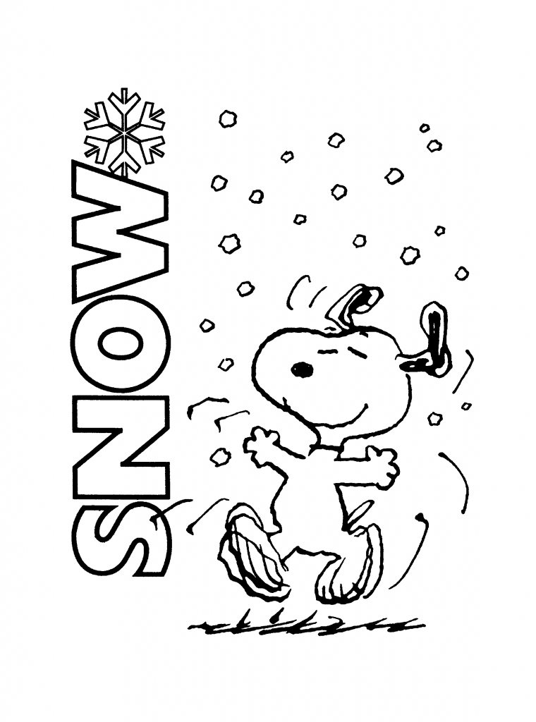 760x1024 Free Printable Charlie Brown Christmas Coloring Pages For Kids