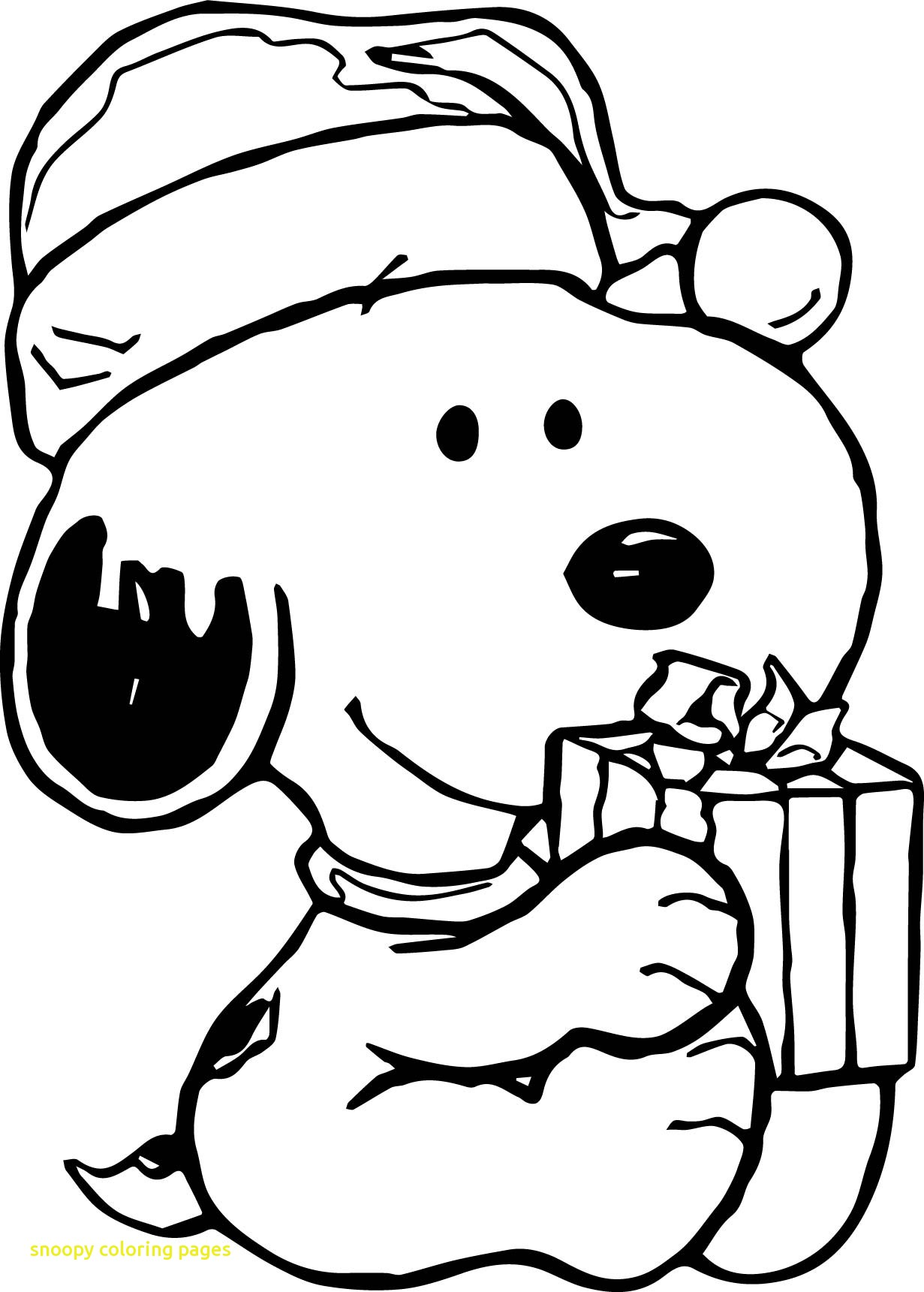 1231x1721 Fresh Snoopy Coloring Pages With Baby Snoopy Christmas Coloring