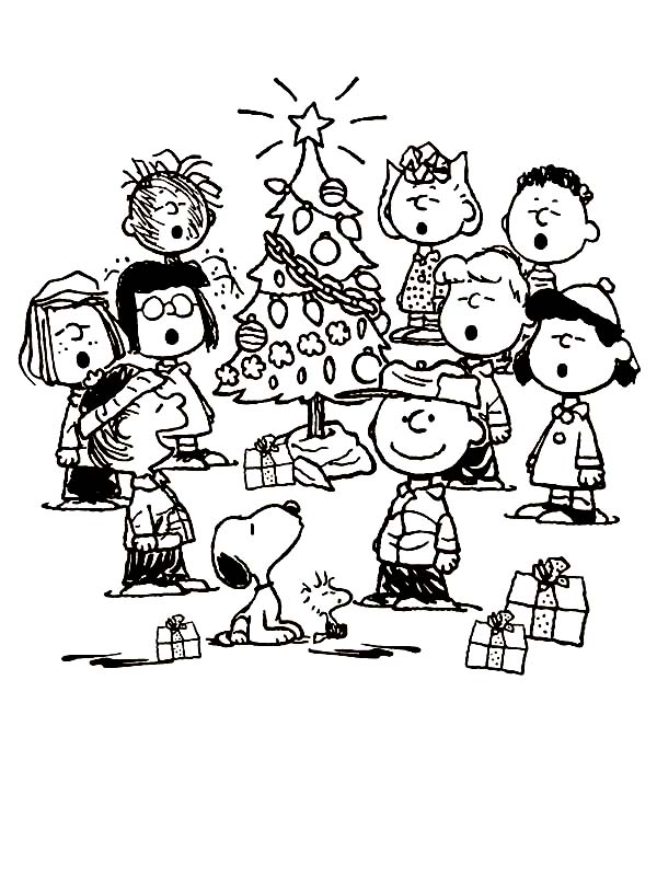 600x800 Peanuts Charlie Brown Christmas Coloring Page Coloring Sun