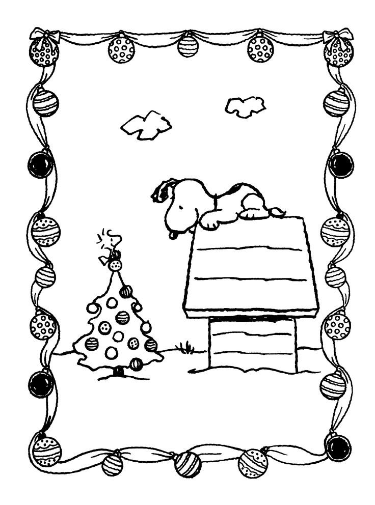 736x992 Snoopy Christmas Coloring Pages