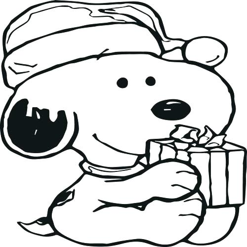 500x500 Snoopy Christmas Coloring Pages Printable Snoopy Coloring Pages