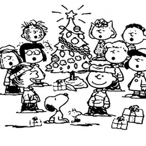 300x300 Snoopy Christmas Tree Coloring Pages Best Place To Color