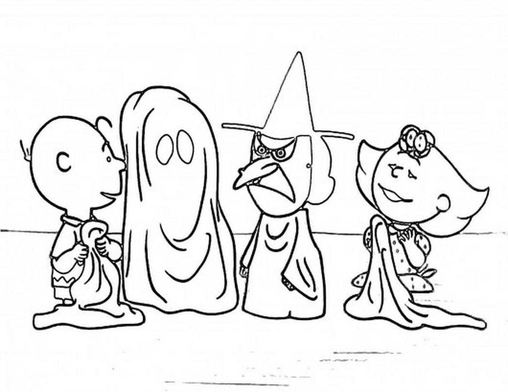 1048x809 Charlie Brown And Snoopy Christmas Coloring Page Free Pages
