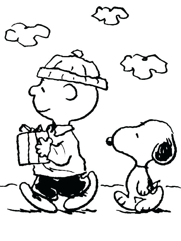 600x800 Charlie Brown Christmas Coloring Pages Print Charlie Brown